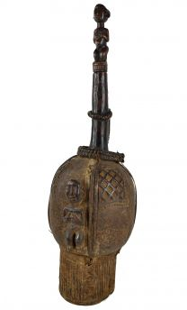 Fang Byeri Container Figural Stopper Gabon African Art Collection