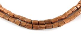 Copper Sliced Beads Ethiopia African 28 Inch