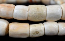 """Shell Beads """"White Coral"""" West Africa 26 Inch"""