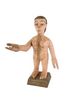 Ewe Wooden Doll Colonial Female Figure Togo African Art