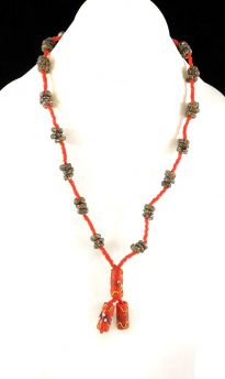 Necklace End of Days African Trade Beads 37 Inch