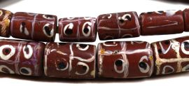 Tic Tac Toe Venetian Trade Beads Brick Africa