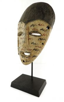 Lega Mask White Spotted Face Congo African Art