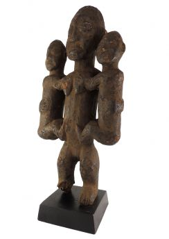 Bamileke Female Figure with Family Cameroon Grasslands African Art 23 Inch