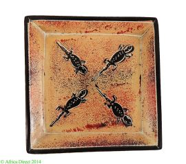 Stone Plate Kisii Lizards 4 Inches Square Kenya African