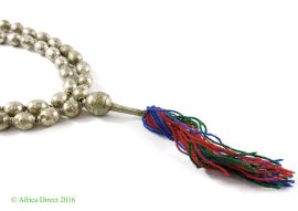 Ethiopian Prayer Beads Silver with Tassel Africa