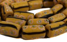 Venetian Trade Beads Yellow Striped Africa