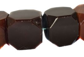 Carnelian Stone Cubes Large Trade Beads Africa 28 Inch