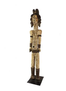 Igbo Female Shrine Figure Alusi Nigeria Custom Stand African Art 38 Inch