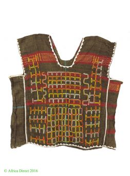 PRICE? Hausa Tunic Embroidered Cotton Cloth Child Size Niger African Textile
