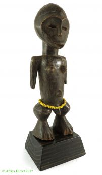 Luba Female Figure Miniature Congo African Art