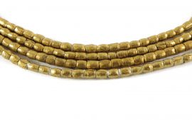 2 Strands Gold Beads Tiny Africa Ethiopian