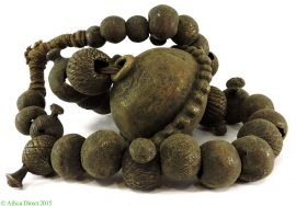 Brass Beads with Huge Pendant Nigeria Africa Old