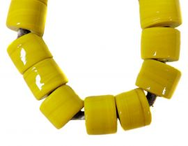 Indian Necklace Yellow Beads 18 Inch