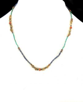 Lapis Necklace TINY Stone Beads Afghanistan