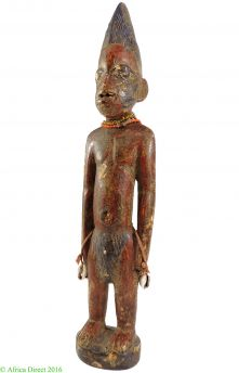 Yoruba Ibeji Doll with Beads Nigeria African Art Miniature