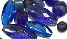18 LooseTrade Beads Grab Bag African Russian Blues and More