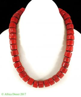 India Necklace Red Beads 18 Inch