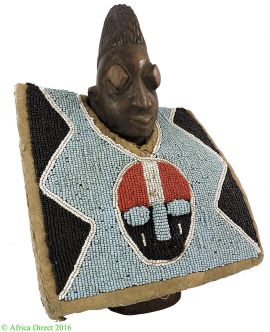 Yoruba Ibeji Twin Doll Male with Rabbit Tunic African Art