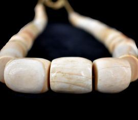 """Shell Beads """"White Coral"""" West Africa"""