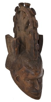 Igbo Mask with Headcrest Nigeria African Art