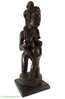 Chokwe Standing Figure Mother and Children African Art