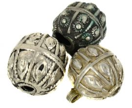 3 Yemeni Silver Beads COOPER COLLECTION