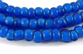 Trade Beads  Blue Whitehearts African Tiny 5mm
