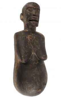 Makonde Njorowe Pregnant Belly Mask with Face African Art 32 Inch