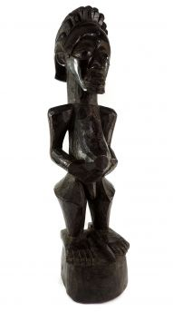 Songye Power Figure Prominent Belly Congo African Art
