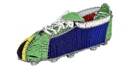Zulu Beaded Soccer Cleat South African Flag World Cup African Art